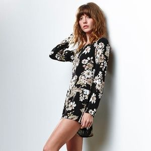 PacSun Honey Punch Floral Long Sleeve Romper